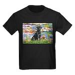 Lilies (#2) & Black Lab Kids Dark T-Shirt