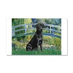 Bridge & Black Lab Car Magnet 20 x 12