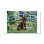 Bridge / Labrador (Choc) Car Magnet 20 x 12