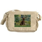 Bridge / Labrador (Choc) Messenger Bag