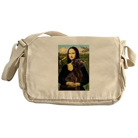 Mona & her Chocolate Lab Messenger Bag