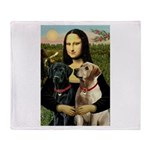 Mona / Labrador Throw Blanket