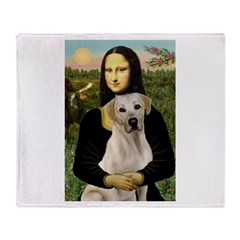 Mona Lisa / Lab (y) Throw Blanket