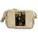 Mona's Black Lab Messenger Bag