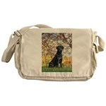 Spring & Black Lab Messenger Bag