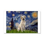 Starry Night Yellow Lab Car Magnet 20 x 12