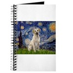 Starry Night Yellow Lab Journal
