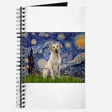 Starry Night Yellow Lab Journal