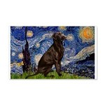 Starry Chocolate Lab 20x12 Wall Decal