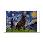 Starry Chocolate Lab Car Magnet 20 x 12