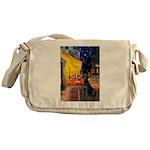 Cafe & Black Lab Messenger Bag