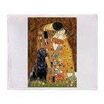 The Kiss & Black Lab Throw Blanket