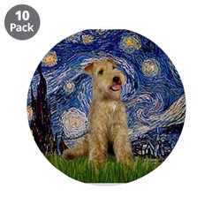 """Starry Night Lakeland T. 3.5"""" Button (10 pack)"""