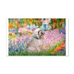 Garden / Lhasa Apso 20x12 Wall Decal