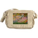 Garden / Lhasa Apso Messenger Bag