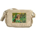 Irises / Lhasa Apso #4 Messenger Bag
