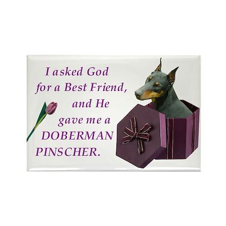 I Asked God -RecMag -Doberman,BlkRst,Cr Magnets