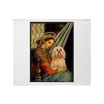 Madonna / Lhasa Apso #9 Throw Blanket