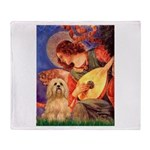 Mandolin / Lhasa Apso #9 Throw Blanket