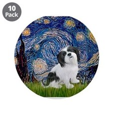 """Starry / Lhasa Apso #2 3.5"""" Button (10 pack)"""