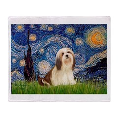 Starry / Lhasa Apso #4 Throw Blanket