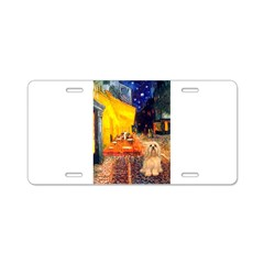 Cafe / Lhasa Apso #9 Aluminum License Plate