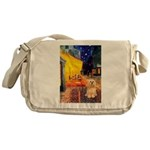 Cafe / Lhasa Apso #9 Messenger Bag