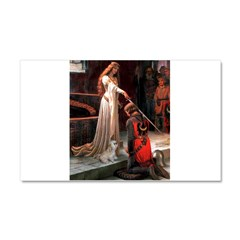 The Accolade & Lhasa Apso Car Magnet 20 x 12
