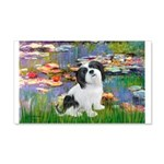 Lilies / Lhasa Apso #2 20x12 Wall Decal