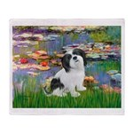 Lilies / Lhasa Apso #2 Throw Blanket