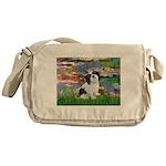 Lilies / Lhasa Apso #2 Messenger Bag