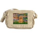 Lilies / Lhasa Apso #9 Messenger Bag