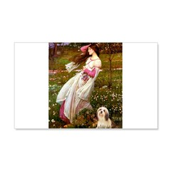Windflowers / Lhasa Apso #4 Wall Decal