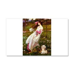 Windflowers / Lhasa Apso #4 Car Magnet 20 x 12