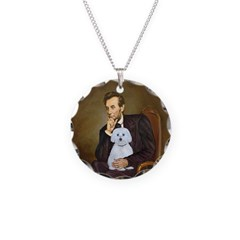 Lincoln / Maltgese (B) Necklace Circle Charm