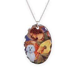 Mandolin Angel / Maltese (B) Necklace