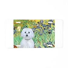 Irises / Maltaese (B) Aluminum License Plate