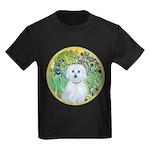 Irises / Maltaese (B) Kids Dark T-Shirt