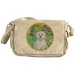 Irises / Maltaese (B) Messenger Bag