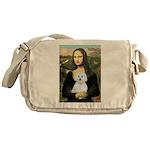 Mona Lisa / Maltese (B) Messenger Bag