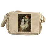 Ophelia #1 / Maltese (B) Messenger Bag