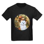 Vase / Maltese (B) Kids Dark T-Shirt