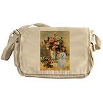 Vase / Maltese (B) Messenger Bag