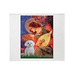 Mandolin Angel & Maltese Throw Blanket