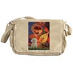 Mandolin Angel & Maltese Messenger Bag