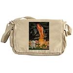 Fairies & Maltese Messenger Bag