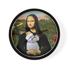 Mona's Maltese (R) Wall Clock
