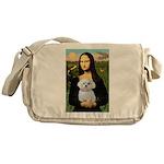 Mona's Maltese (R) Messenger Bag