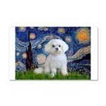 Starry Night / Maltese Car Magnet 20 x 12