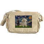 Starry Night / Maltese Messenger Bag